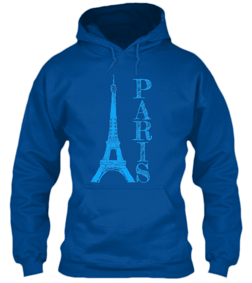 Hoodies Sweatshirts Zipperless Pullover Front Pocket Pouch Eiffel Tower Paris