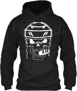 Hockey Puck Skull Hoodie sports