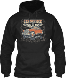 Car Service Wings Auto Shop Mechanics Hoodie
