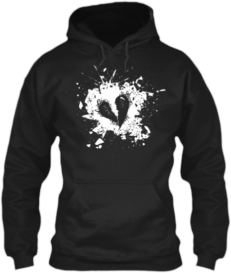 Hoodies Sweatshirts Zipperless Pullover Front Pocket Pouch grunge heart