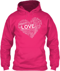 Love Languages Heart Hoodie