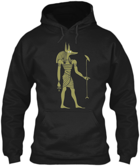 Hoodies Sweatshirts Zipperless Pullover Front Pocket Pouch Egyptian God Anubis
