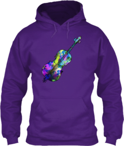 Violin Cello Music Art Paint Hoodie