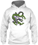 Green Dragon Casual Pullover Pouch Pocket Hoodie Womens and Mens