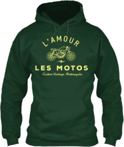French Motorcycle Hoodie