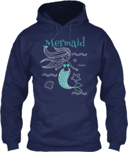 Mermaid Swimming in the Ocean Hoodie