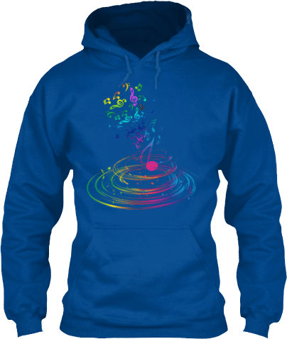 Music Notes Swirling Musician's Hoodie