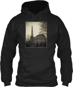 Vintage Eiffel Tower Paris France Hoodie
