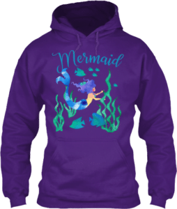 Mermaid swimming underwater in the ocean hoodies