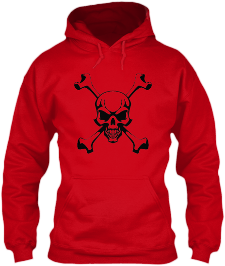Hoodies Sweatshirts Zipperless Pullover Front Pocket Pouch skull crossbones