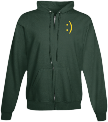 smile zip hoodies