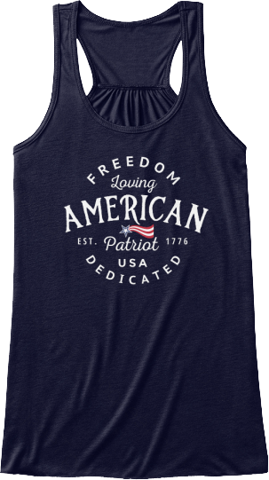 Freedom Loving American Patriot Collection USA Women's Tank Top