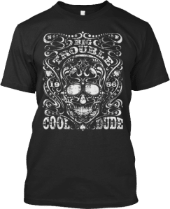 skull cool dude tshirt