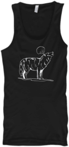 Tank Top wolf howling at moon
