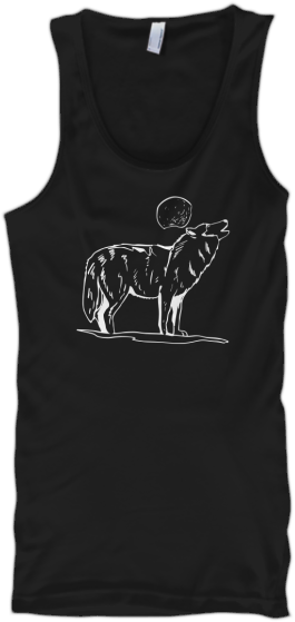 Wolf howling at the moon tank top Printed Tank Tops #tanktop #wolf #wolves