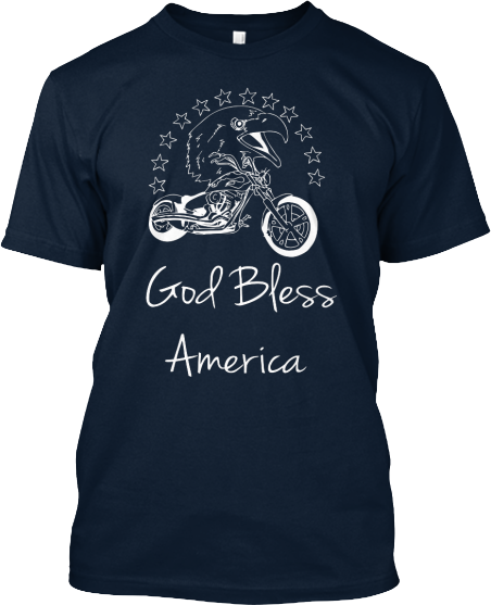 tshirt god bless america patriotic