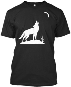 Wolf Howling at Quarter Moon T Shirts Wolves Wolf Lovers