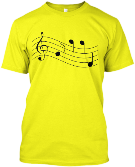 Musical Notes Staff T-shirt