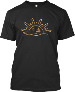 Summer Sun Sailboat Sailing T Shirt