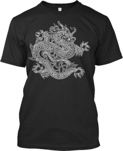 White Dragon Design T shirt