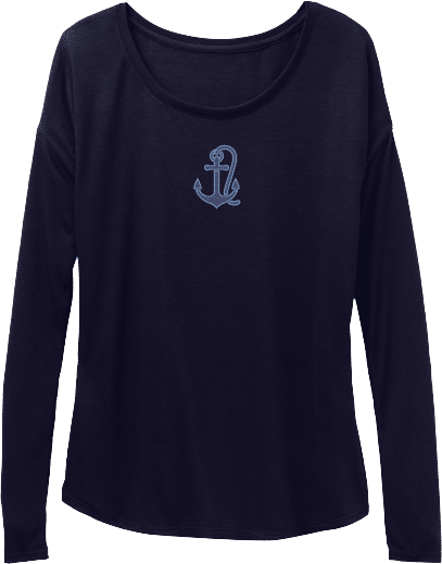 Sailing Boat Anchor Womens T-shirt Long Sleeve