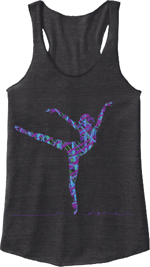 Pointe Dancer Ballet Arabesque Tank Top