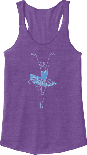 Dancer Pointe Racerback Dance Tank Top