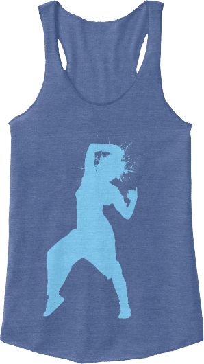 Hip hop blue tank top