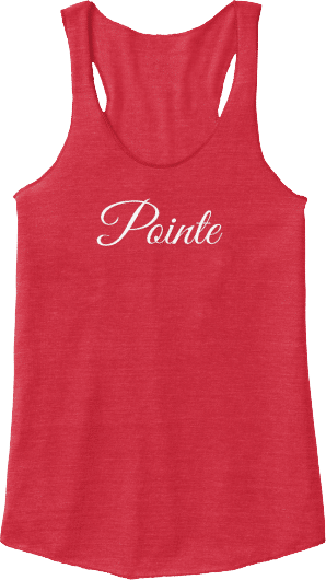 Pointe ballet dance tank top