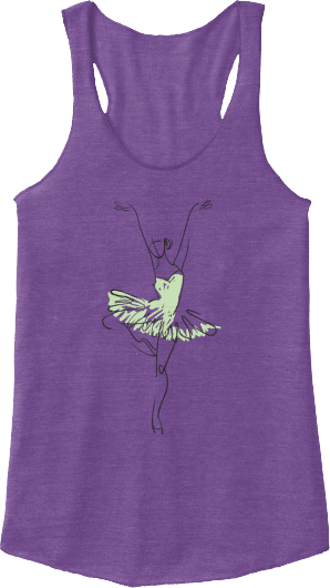 Ballet tutu pointe dancer tank top