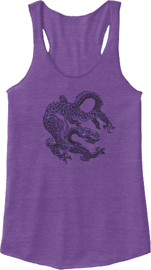 Purple Chinese Dragon Tank Top