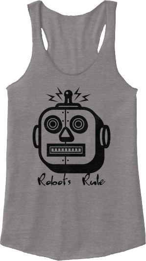 Robots Rule Fitness Tank Top Square Head