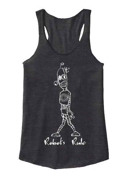 Robots Rule Tall Robot Tank Top