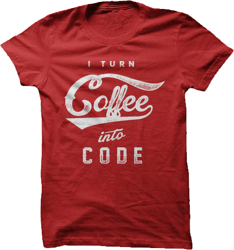 I turn coffee into code programmers developers web designers