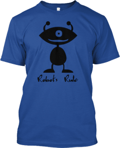 One eyed robot t shirt