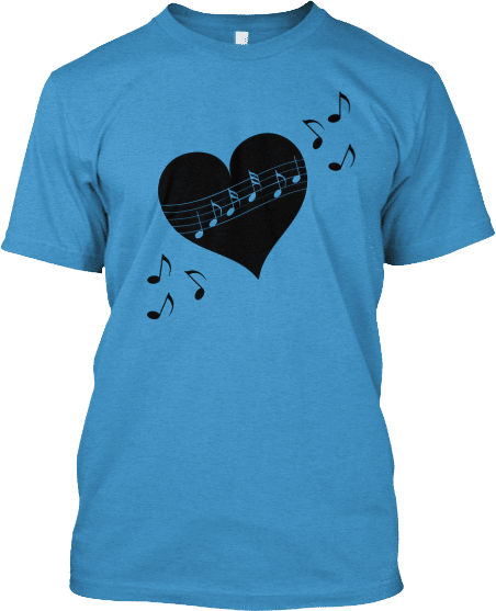 Heart Musical Notes Tee
