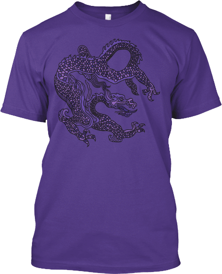 Purple Chinese Dragon T-shirt