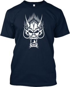 White dragon head t shirt