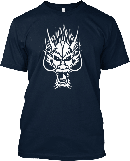 White Dragon Head T-shirt