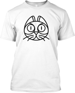 Funny Cat Head Cartoon T shirt