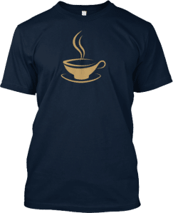 Coffee cup T shirt
