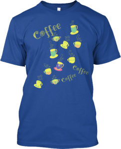 Coffee Cups Colorful T shirt