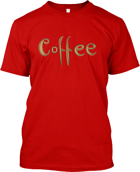 Hand Drawn Coffee T-shirt