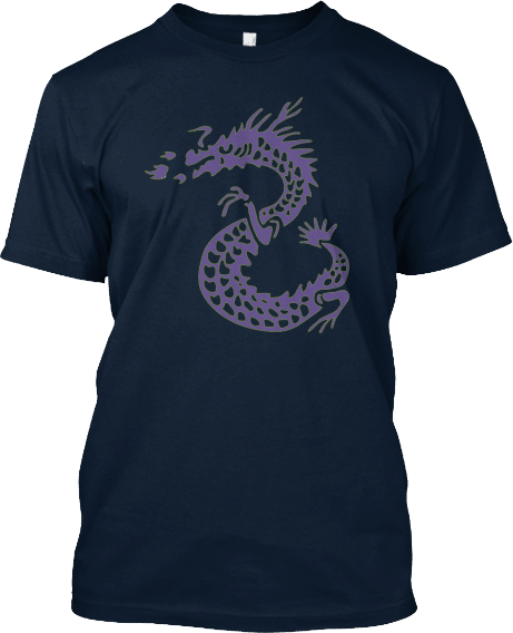 Tall Dragon Purple and Green Tshirt