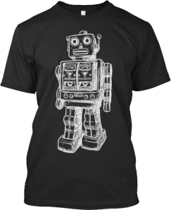 Huge Robot Design T shirt