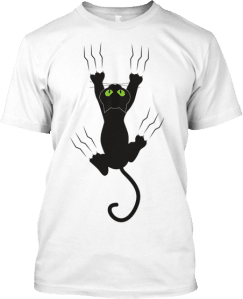 Black Cat Climbing T shirt