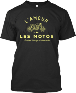 French Motorcycle T shirt Les Motos