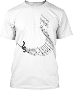 Music Staff T shirt