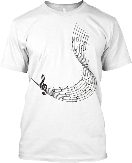 Musical Notes Staff Tee