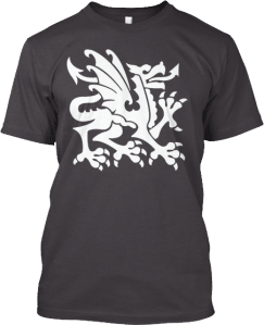 White Dragon Heraldry T shirt